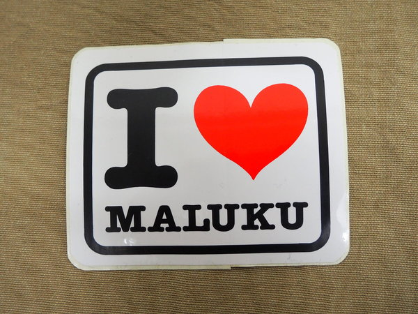 Sticker I LOVE MALUKU