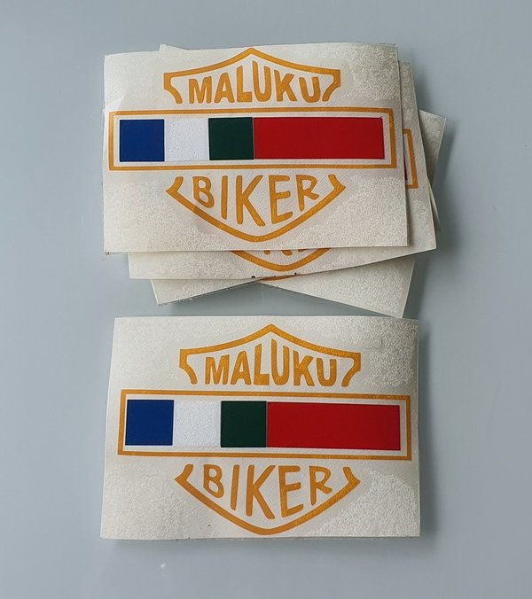 Stickers - Maluku Biker transparant