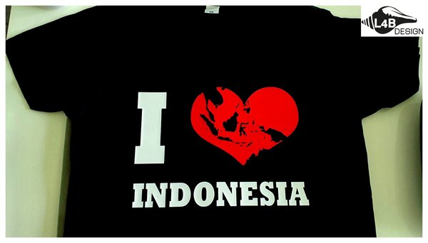 I love Indonesia kaart